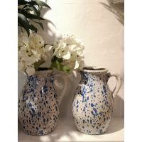 Distressed Finish Ceramic Jug