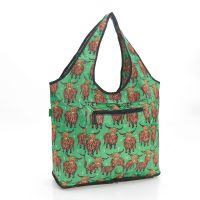 Eco Chic Foldable Weekend Tote Highland Cow