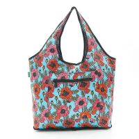 Eco Chic Foldable Weekend Tote Poppies