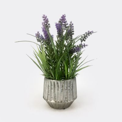 Artificial Lavenders in Ceramic Pot