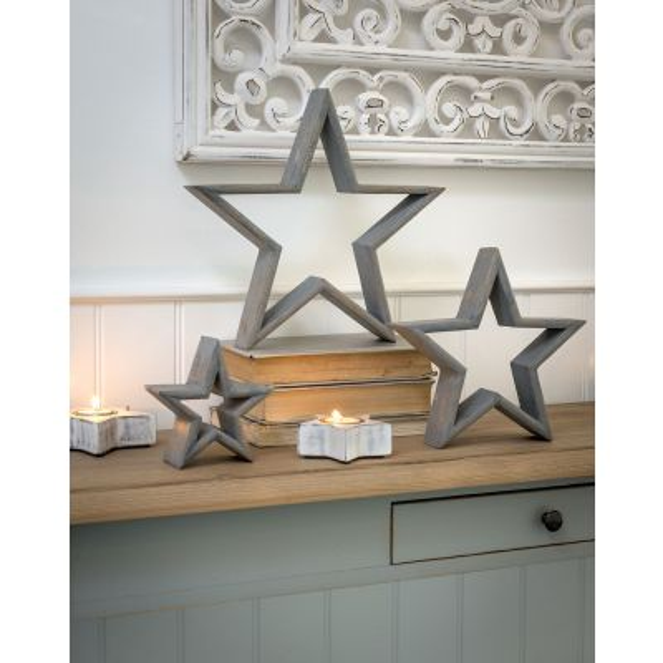 Set of 3 Mantle Piece Stars