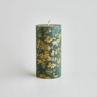 Winter Thyme Scented Marbled Pillar