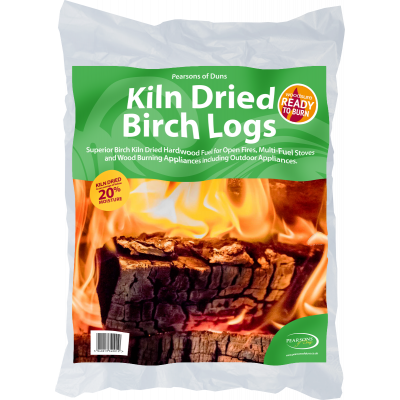 Kiln Dried Birch Logs 20 Litre