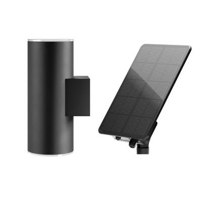 Chester Up & Down Solar Wall Light, Anthracite