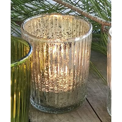 Ribbed Glass Votive