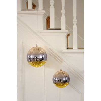Gold Glass Light Up Bauble