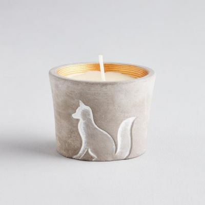 Winter Thyme Fox Pot Candle
